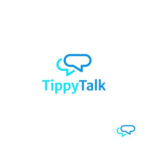 Chat Bubble Inspired Logo Design for TippyTalk
