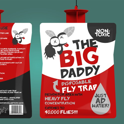 Packaging design for a fly trap