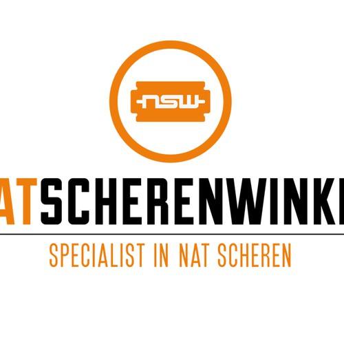 """Logo for Men Grooming website """"natscherenwinkel"""""""