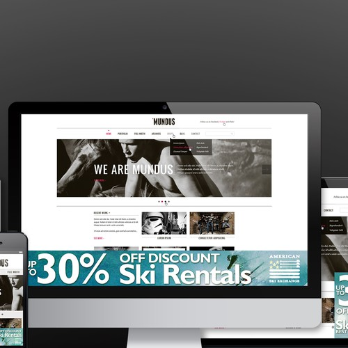 Design a Visually Stunning Ski Rental Shop Ad for Women