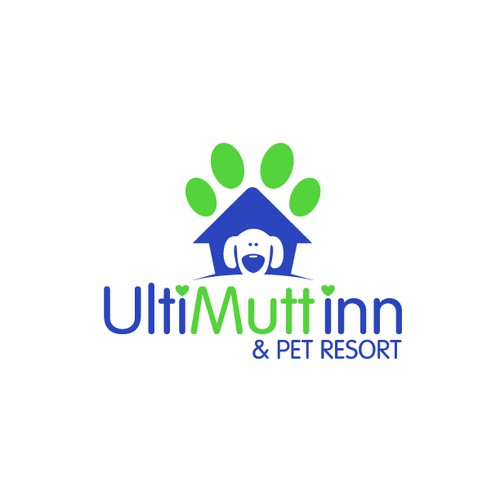Logo for a pet resort