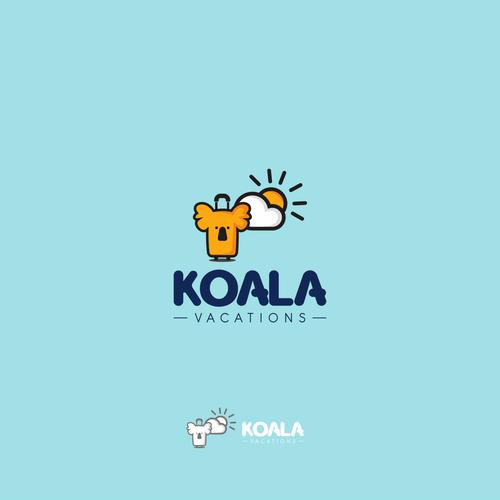 Design a beautiful logo for Koala Vacations