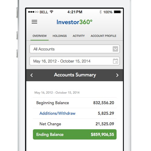 Create a Fun and Engaging Mobile App for Investors using a financialaccount portal to view accounts