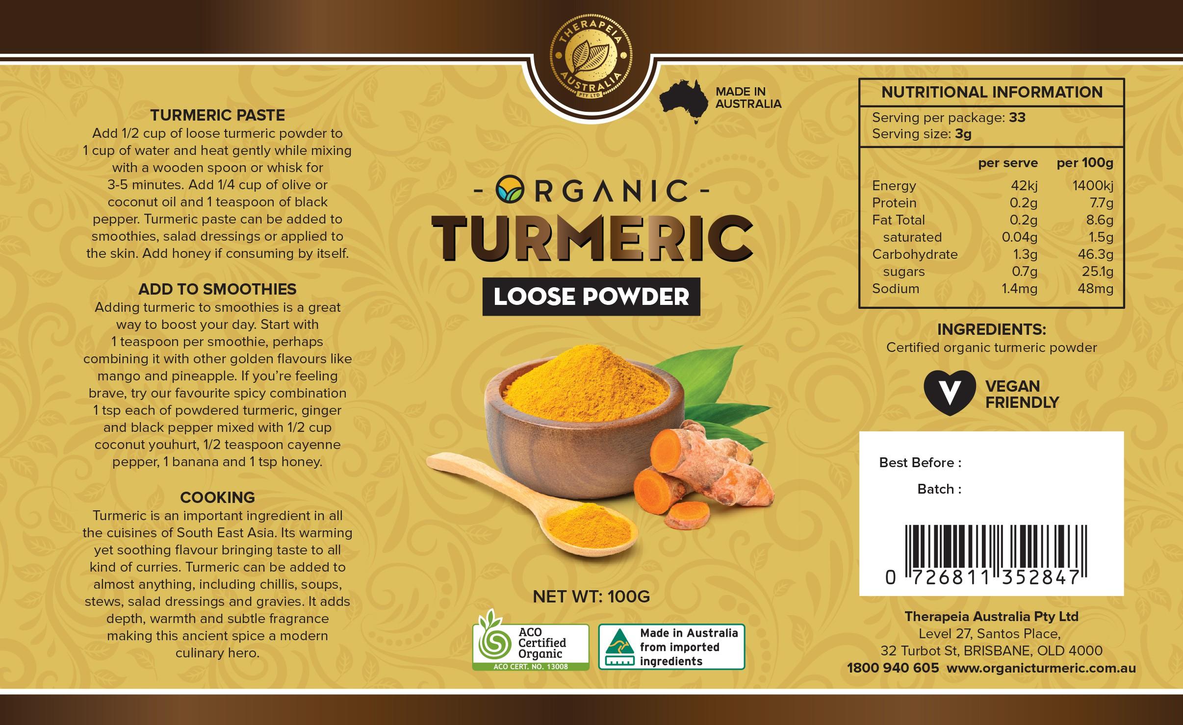 Tumeric powder container design