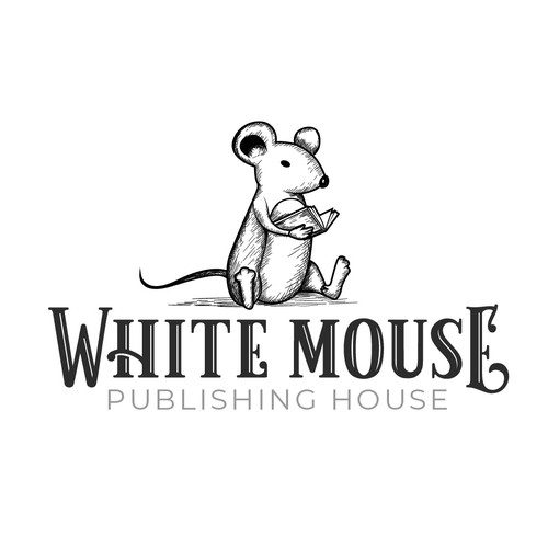 Handdrawn logo concept for a publishing company