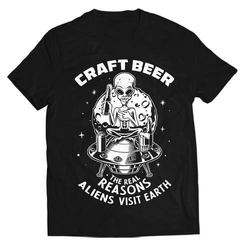 Craft beer shirt design
