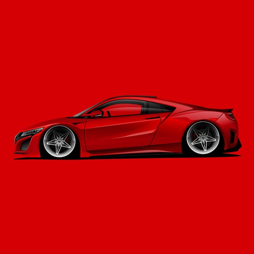 Acura NSX Illustration for Awlest Wheels.