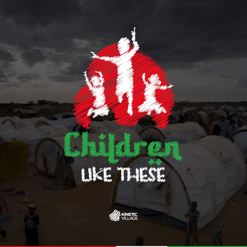 Winning Podcast Logo for Refugee Children