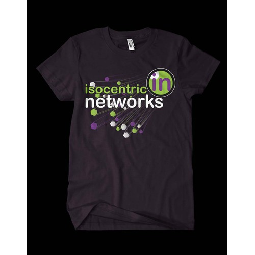 A cool t-shirt design for Isocentric Networks.