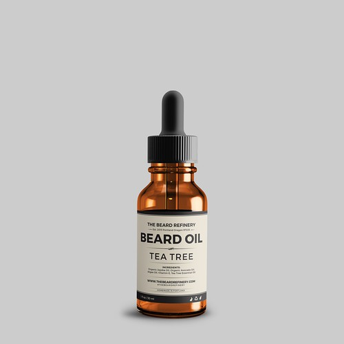 Label for beard oil