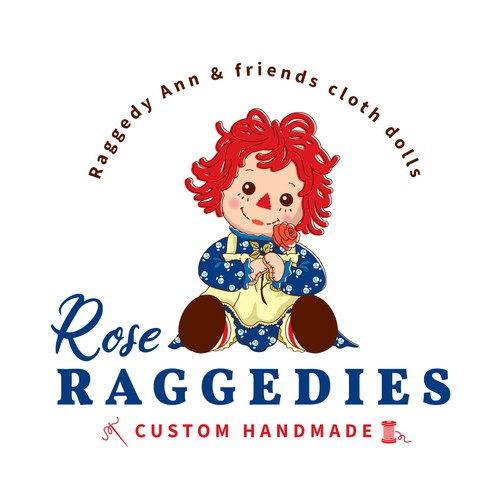 Custom handmade doll logo design