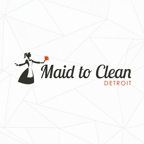 Stylish logo for Maid to Clean Detroit