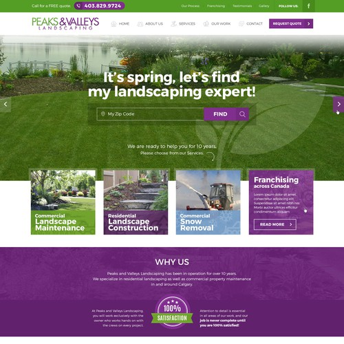 Webdesigns for landscaping company