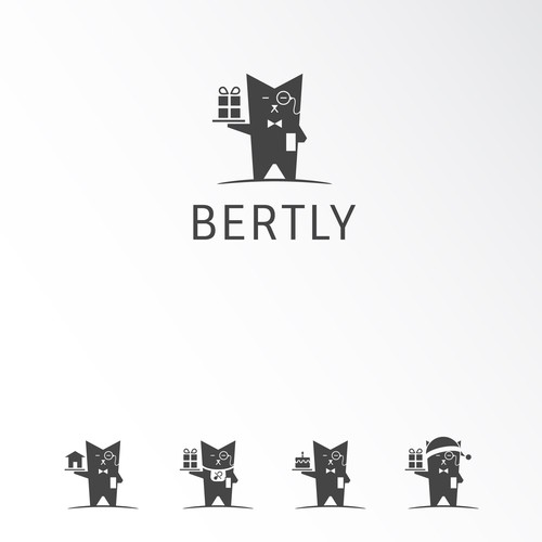 Create the character I'll build my site around -- Bertly the Gift Butler!