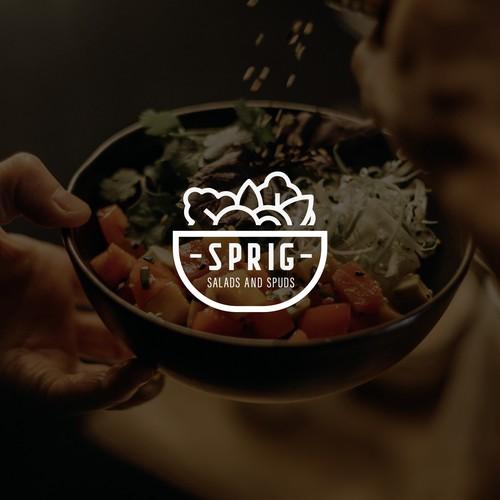 logo design • Spring Salads and spuds