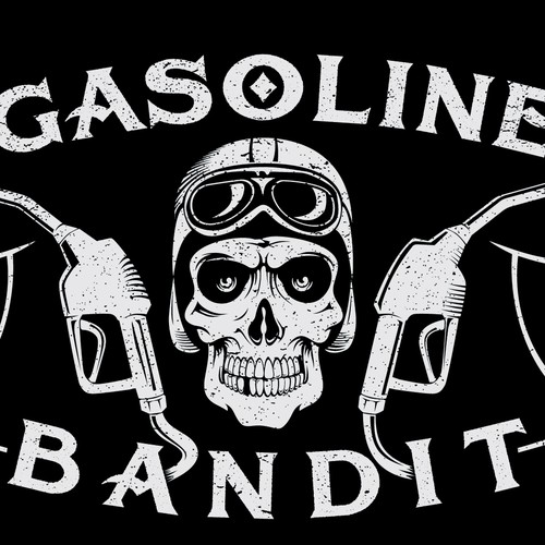 Logo for GASOLINE BANDIT, winner guaranteed!