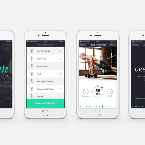 Create an exciting, clean, and modern workout app!