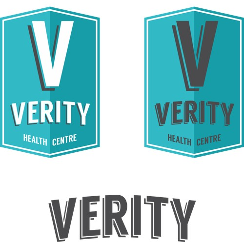 Create a modern/vintage V with an arrow underneath within a box/circle.