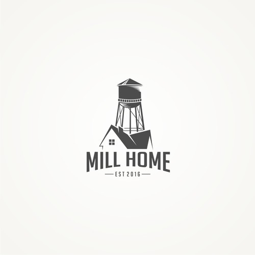Creating an awesome 1900s Mill Home real estate company brand