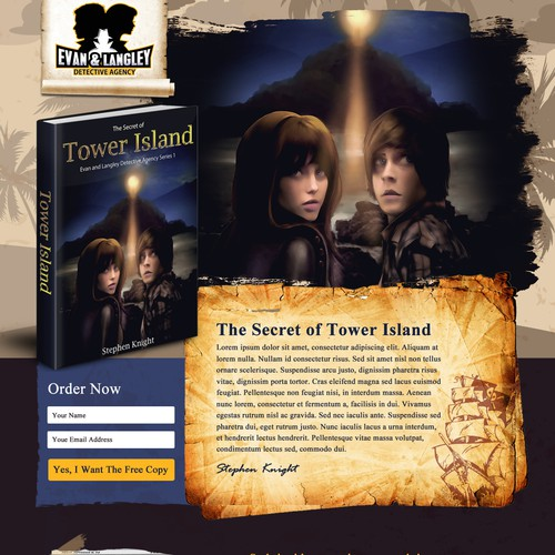 Website for Mystery Book - The Secret of Tower Island