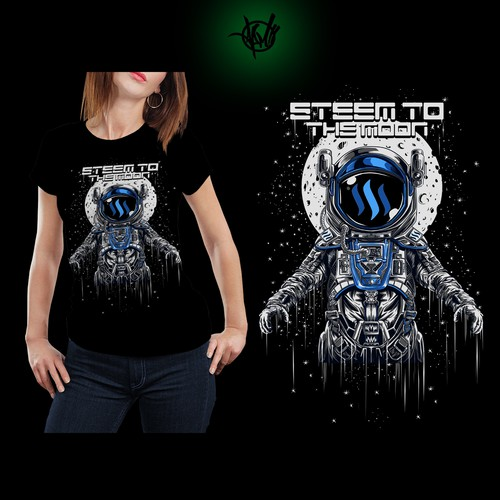 "ASTRONAUT ""STEEM TO THE MOON"""