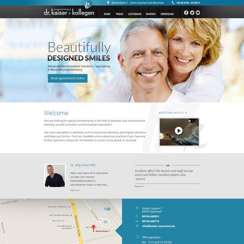 new Website for dentist