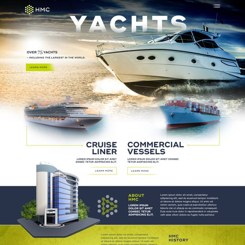 Yachts Technology website design