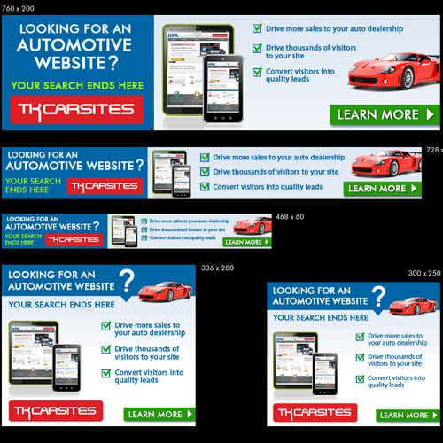Banner ad for TK Carsites Websites