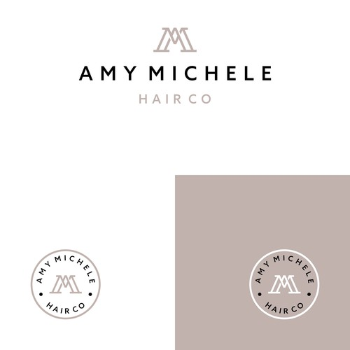 'AM' Amy Michele Logo Concept