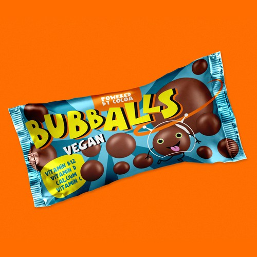 """Packaging for """"Bubbals"""" choco balls"""