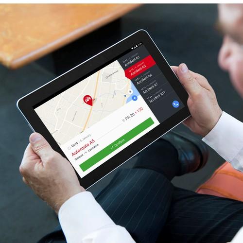 Road accident maintenance app