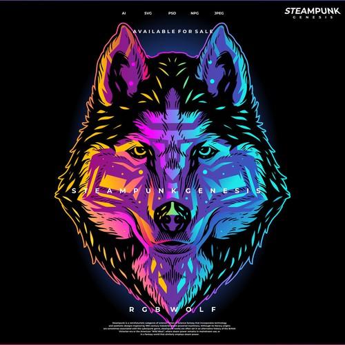 rgb wolf