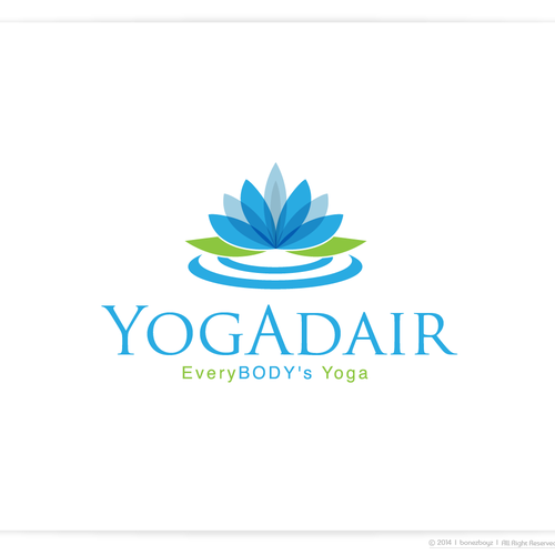 Namaste! Create a serene and beautiful logo for a new yoga studio.