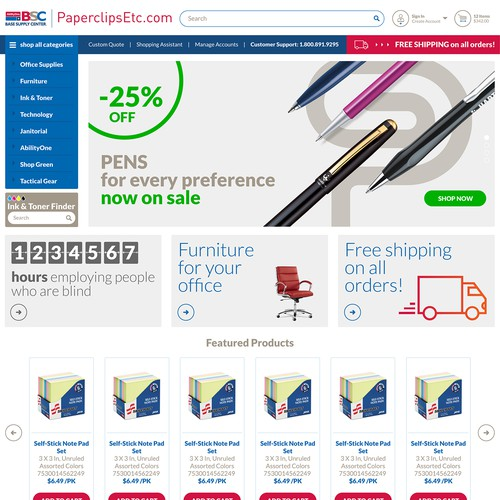 eCommerce website redesign