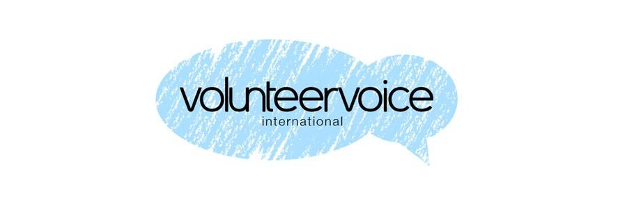 Create a simple, modern logo for VolunteerVoice International