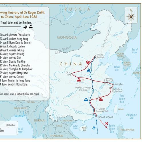 Tour of China map