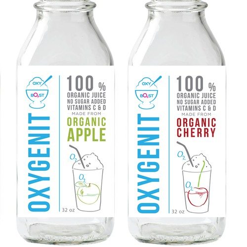 Label design for organic juices
