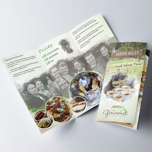 Gourmet food brochure