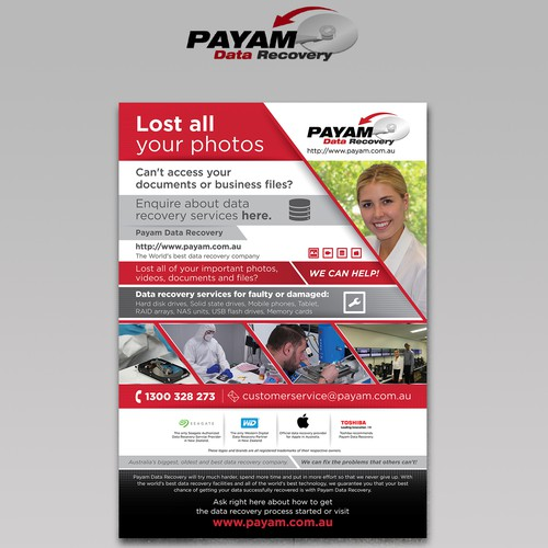 Payam Data Recovery Poster Design