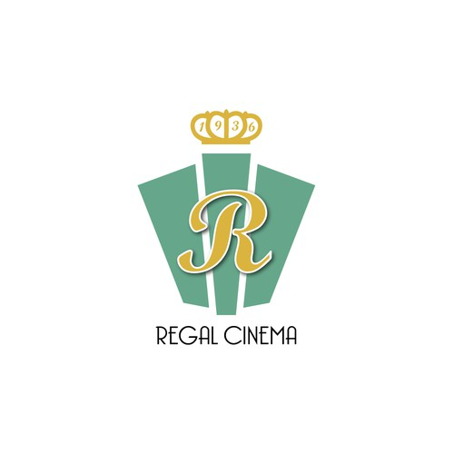 Art deco logo for old cinema