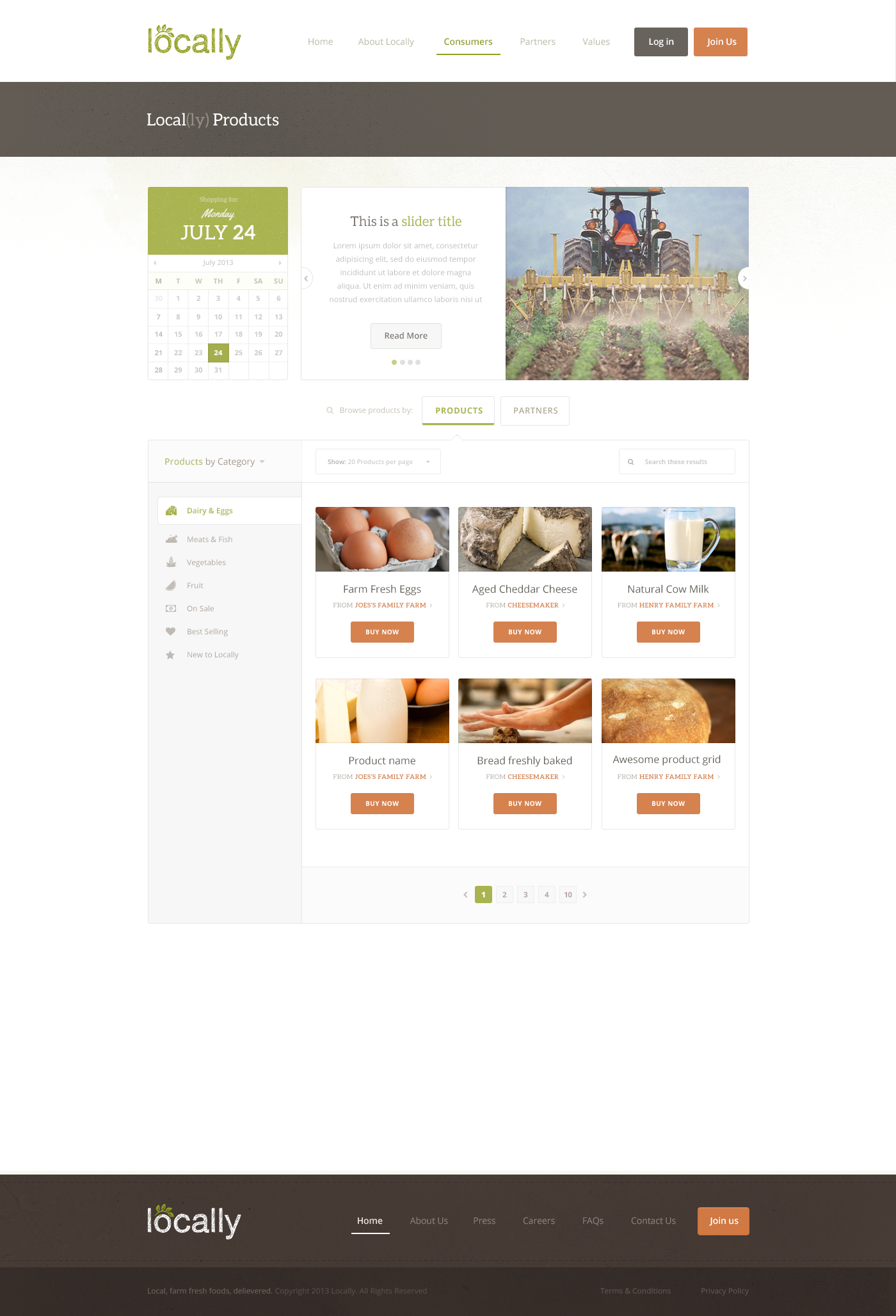 Create the next website design for Locally.co