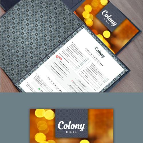 Food Menu for Colony Burger