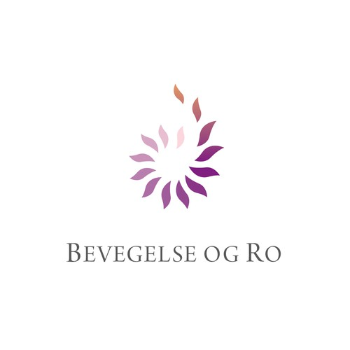 Logo concept for medical yoga center