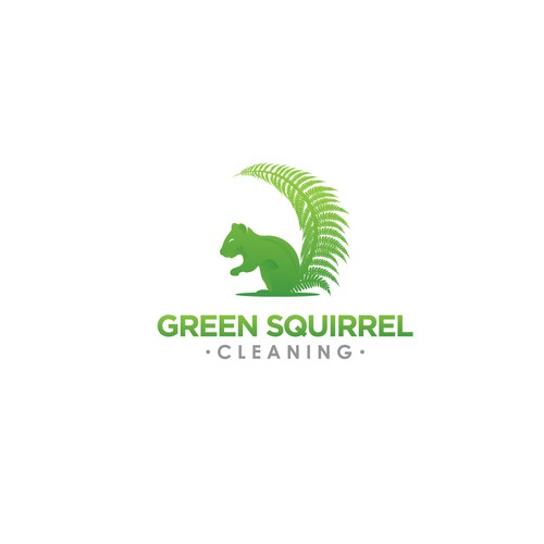 Green Squirrel Cleaning