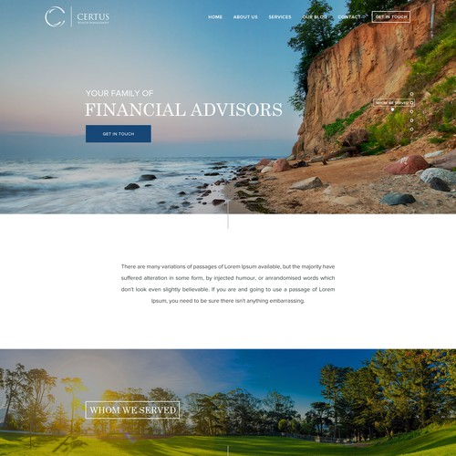 website for wealth management system.