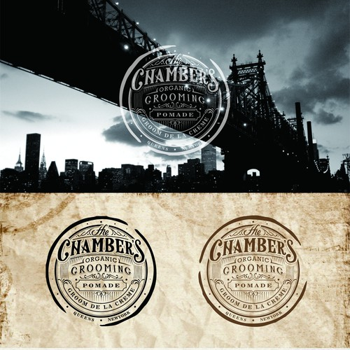 Vintage logo for The Chambers Grooming Pomade