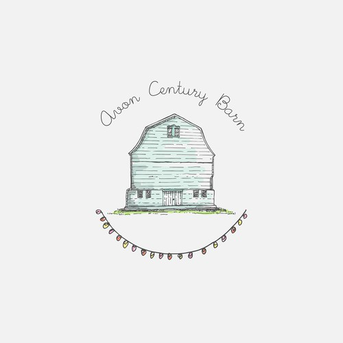 barn wedding venue logo