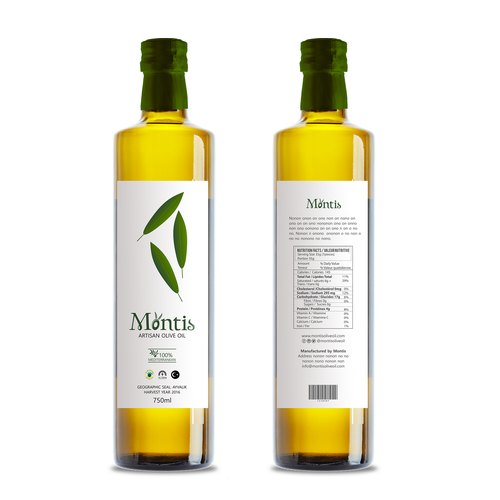 Rótulo Azeite de Oliva Mediterrâneo