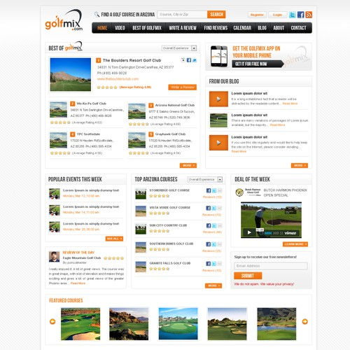 website design for golfmix