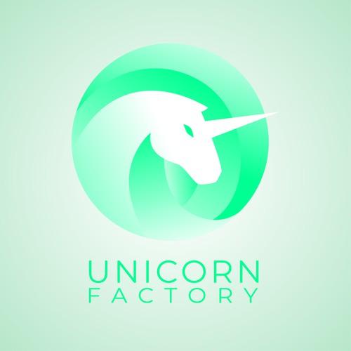 Unicorn Factory Modern Logo